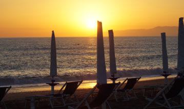 tramonto spiaggia scalea calabria