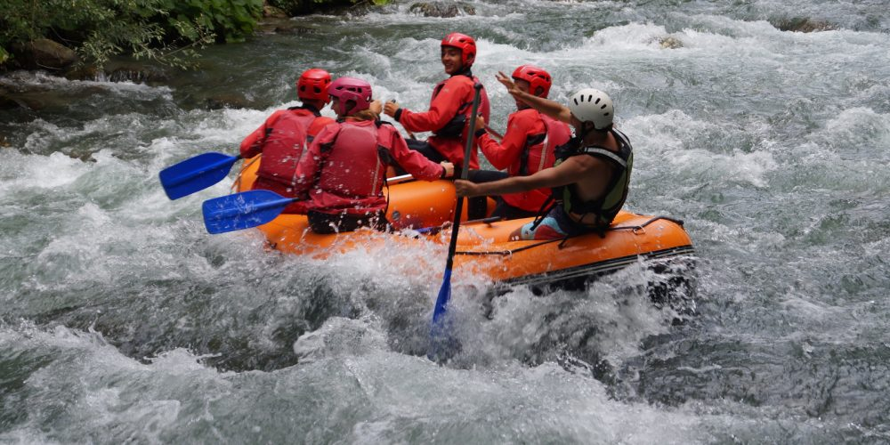 Rafting – In der Mitte flieβt der Fluss